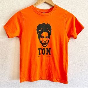 Prince (ton) college graphic tee orange size 00